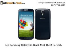 SellSmartForCash is the UK's best selling and recycling company of used #mobile phones. Get the £96 to sell or recycle your #Samsung Galaxy S4 Black Mist.