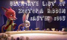 Ultimate List of Zootopia Hidden Easter Eggs #Disney