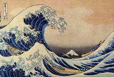 Hokusai Katsushika, Sous la vague au large de Kanagawa