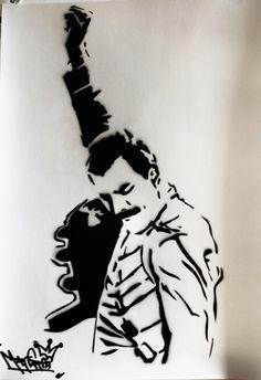 freddie mercury stencil - Google Search