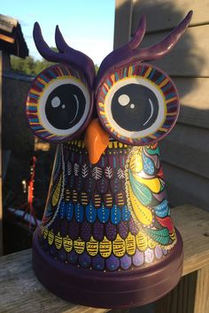 Clay pot terra cotta owl - All For Herbs And Plants Clay Flower Pots, Flower Pot Crafts, Painted Flower Pots, Painted Pots, Clay Pots, Clay Pot Projects, Clay Pot Crafts, Owl Crafts, Diy Clay