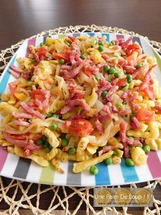Spaetzle aux légumes et lardons My Best Recipe, Time To Eat, French Food, How To Cook Pasta, Pasta Salad, Plat Simple, Cabbage, Spaghetti, Good Food