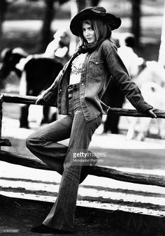 Getty images: Nada Italian singer, Rome 1970s. Jeans have been around since I have been around and I am sure they will out live me. However, it was not until the 1970s, postmodernism, that jeans were accepted as everday clothes that could be either dressed up or down. It was also, during this time that high end jeans were introduced into the market. It is interesting to think there was a time when jeans were not as common and widely accepted as they are today.