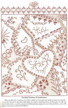 """♥  Tutorial de vários pontos de bordado para acabamento em Patchwork   刺绣基础:""""简单的宝藏""""(拼绣模式) - maomao - 我随心动"""