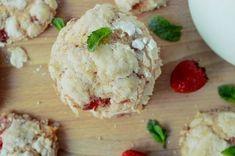 Cookies fragole biscotti con fragole fresche veloci
