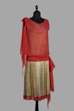 CALLOT SOEURS, evening dress, ca 1925