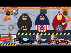 Superheroes Surprise Eggs   Iron Man Batman   Toy Factory   Kids Video -...