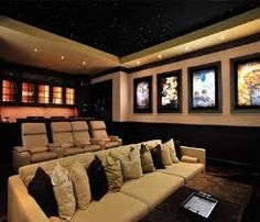 Etonnant Basement Home Theater Family Room (basement Ideas On A Budget) Tags: Basement  Ideas Finished, Unfinished Basement Ideas, Basement Ideas Diy, Small  Basement ...