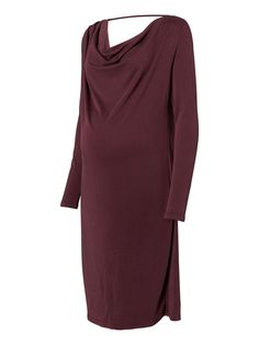 This is a great Maternity dress with waterfall detail at the front and draped back . Now on special offer so hurry before it sells out.  @MORE4MUMS