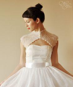 BRIDAL SHRUG Hochzeit Bolero retroStyle von WhiteFashion auf Etsy, $80.00
