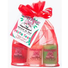 Natural Non-Toxic Nail Polish : Piggy Paint....♥Pedi Cure set♥ found through FB...Get Well Gabby♥