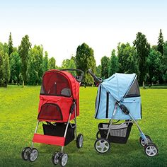Magshion Premium Quality Pet Cat Dog Stroller Travel Carrier Light Weight Red >>> Check out the image by visiting the link.