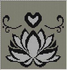 Lotus flower x-stitch