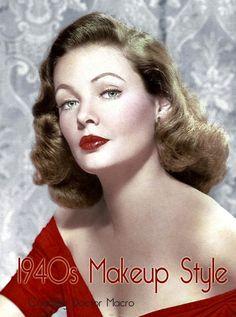 1940 Make Up Look 6 @ http://vintagemakeupguide.com/1940s-look/