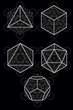 the five solids / Sacred Geometry <3