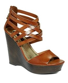 Material Girl Twister Wedge Sandals. So cute for spring.