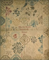 Martha Brady,  Ackworth School Sampler, Reproduction - 1803  If anyone knows where to buy this pattern, or would like to share it, please let me know :)
