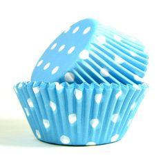 forminha de cupcake poá azul da PolkaDot