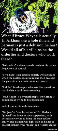 Batman the patient......I CANT DEAL WITH IT