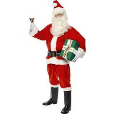 Men's Deluxe Santa Suit Fancy Dress Costume 34585 £28.99