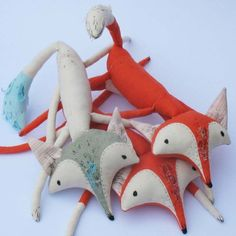 Arctic Foxen by abigailbrown on Etsy, £85.00