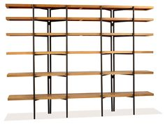 """A tall freestanding bookshelf designed by Hendrik Van Keppel, up for auction at LAMA on May 22, 2016. 72x96x13"""", with an estimate of $3,000-$5000."""