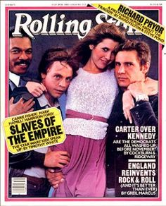 The stars of 'Star Wars: The Empire Strikes Back' (Billy Dee Wiliams, Mark Hamill, Carrie Fisher and Harrison Ford) on the July 24, 1980 cover. #longreads