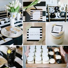 Sophisticated Black And White Baby Shower Add A Pop Of Pink For Men