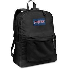 Jansport Superbreak Backpack, Black ($36) ❤ liked on Polyvore featuring bags, backpacks, black, jansport backpack, rucksack bag, jansport, jansport rucksack and black bag