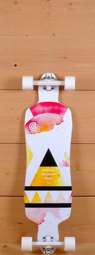 """The GoldCoast 36"""" Salvia is designed for freeriding, carving, and cruising. Pressed with 8 plies of maple, it measures 36"""" long and 9.875"""" wide. The symmetrical shape has wheel cutouts to prevent wheel bite. The drop through platform has elliptical concave and camber."""