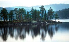 Inarijärvi lake, Lapland, Finland