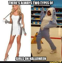 two, types, of, girls, Halloween