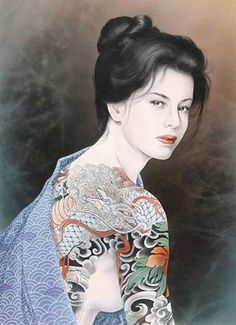 Irezumi Bijin ~Tattoo Fantasy of Ozuma Kaname (小妻要, 1939 - 2011), a painter renowned for his paintings of Irezumi and tattooed people. He was not a tattoo artist, but his paintings are still a great inspiration for tattoo artists