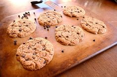 Maple Almond Butter Chocolate Chip Cookies. Paleo, gluten free, sugar free, and AMAZING!!