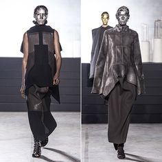 Paris Fashion Week: Rick Owens Coats His Models in Gold Foil - Hollywood Reporter