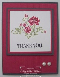 Thank You card by Elizabeth Miller