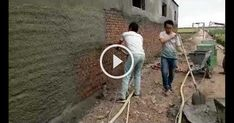 the video of spray plaster machine dazons House Design, Ideas, Architecture, Thoughts, Home Design, Home Design Plans, Design Homes