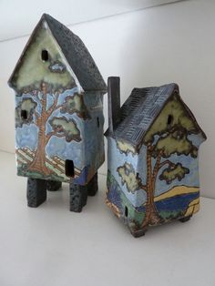 Clay House With Bucolic Scene by DesignPaws on Etsy, $68.00