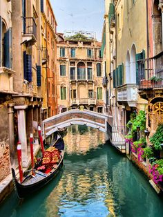 10 Amazing Photos of Venice, the City Blessed with Eternal Love Scenic view of gondola on a canal, Venice, Italy The Places Youll Go, Places To Visit, Places To Travel, Travel Destinations, Time Travel, Travel Tips, Venice Travel Guide, Venice Canals, Destination Voyage