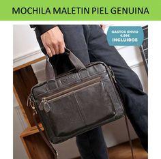 Mochila y bolsos para hombre fabricados el piel y cuero genuino en la seccion de complementos de moda masculina.