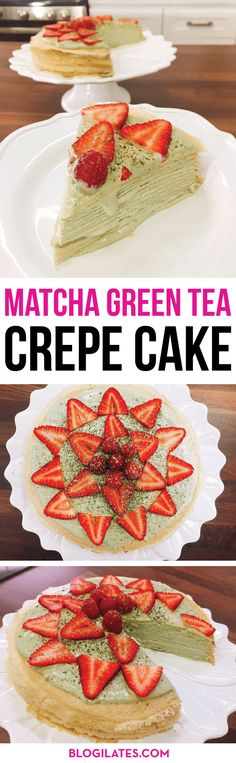This is the fanciest and EASIEST dessert I have ever made! If you want to impress your friends with a delicious, extravagant, and beautiful creation - MAKE MY MATCHA GREEN TEA CREPE CAKE! Gluten free too!