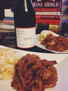 This #Lechon Paksiw, a classic Filipino dish, and Garlic rice paired with the wonderful Bin 6410 pinot from @bennett_valley_cellars