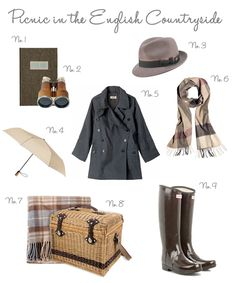 picnic in the english countryside style board