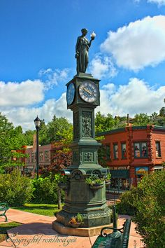 Town Clock in Manitoua Springs, Colorado - photo by Ron Hodges, via Flickr https://www.flickr.com/photos/ronlhodges/6922306341/