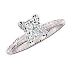 1-1/2 CT. Princess Cut Certified Diamond Solitaire Engagement Ring in 14K White Gold