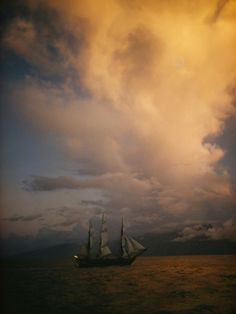 A Tall Ship, Sails Full of Wind, Passes Tahitiby Luis Marden ($39.99 for the 12x16 print)