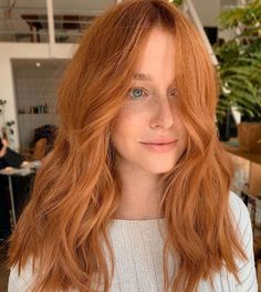 Ginger Hair Color, Strawberry Blonde Hair Color, Ginger Hair Dyed, Redhead Hairstyles, Medium Hairstyles, Summer Hairstyles, Messy Hairstyles, Pretty Hairstyles, Cheveux Oranges