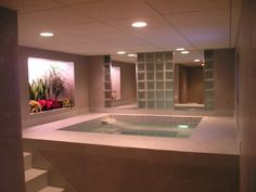 jacuzzi in the basement