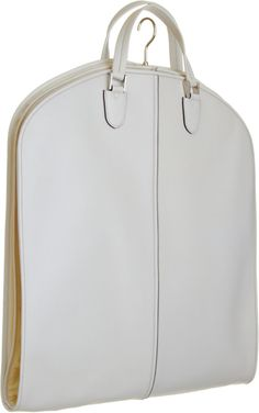 Val extra white leather garment bag