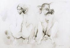 Jan LEBENSTEIN (1930-1999) | Postacie, 1969  piórko, tusz lawowany, 52 x 74 cm